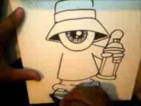 un ojo con graffitis
