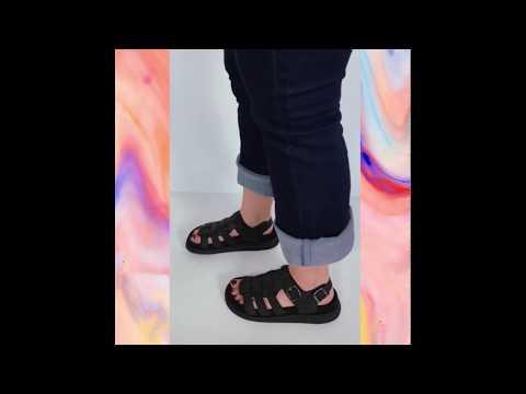 CYGNUS sandália - preto (vegan)