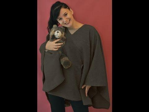 """Favorit Comment coudre une cape/poncho, en laine. Kit de chez """"Les Fées  KI38"""