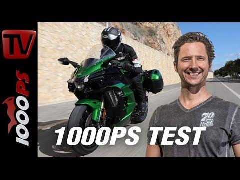 Kawasaki Ninja H2 SX und H2 SX SE Test 2018 - 300 km/h mit Seitenkoffern!