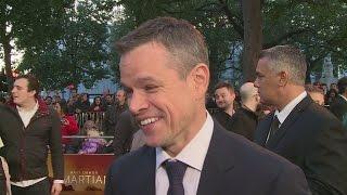 Matt Damon jokes about The Martian Oscar buzz