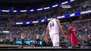 JaVale McGee Slam Dunk Contest Preview 2011 (HD)