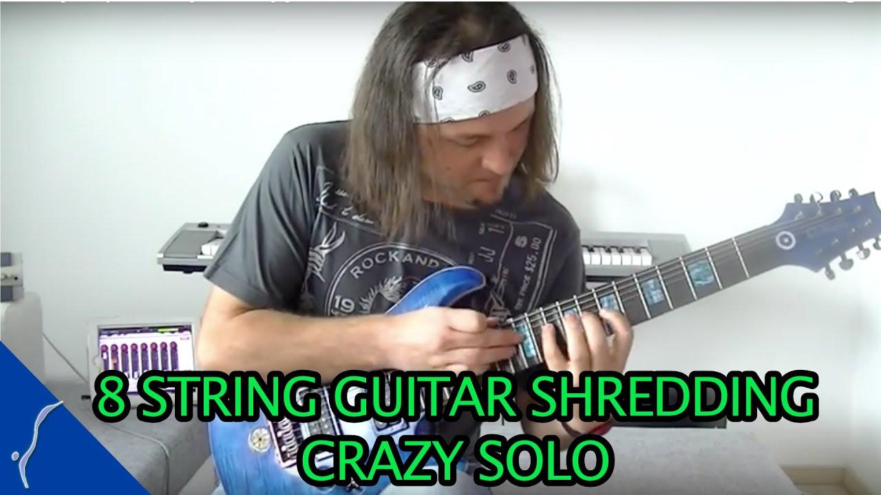 string crazy shredding amazing guitar solo