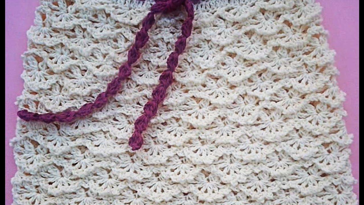 Falda a crochet para niña paso a paso muy fácil y rápido - YouTube