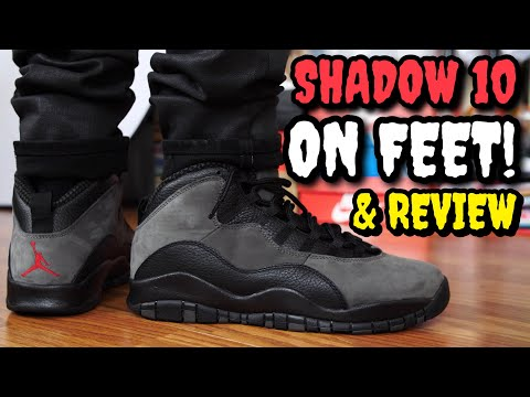 """SHADOW"" AIR JORDAN 10 ON FEET REVIEW! WORTH $190!?"