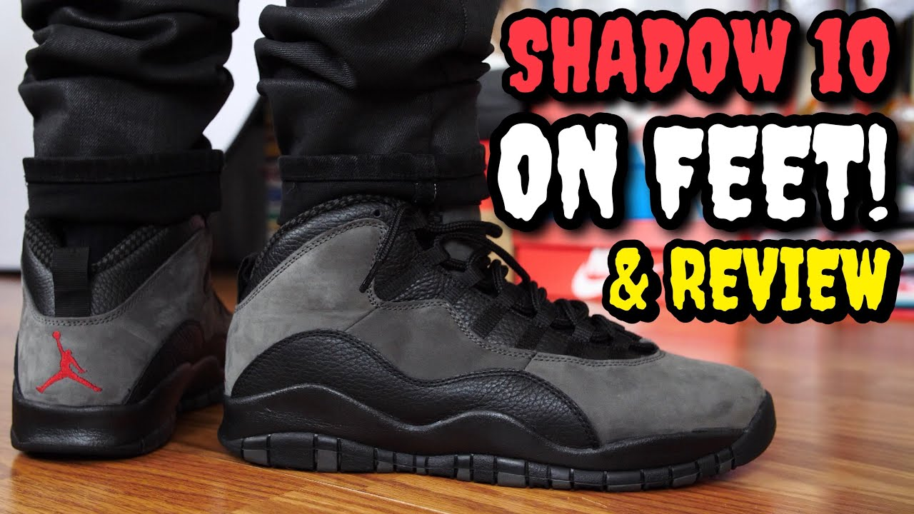"detailed look ee9eb 8bc75 ""SHADOW"" AIR JORDAN 10 ON FEET REVIEW! WORTH $190!?"