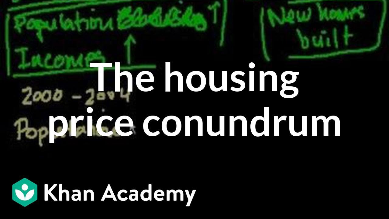 The housing price conundrum | Current Economics | Finance & Capital Markets | Khan Academy