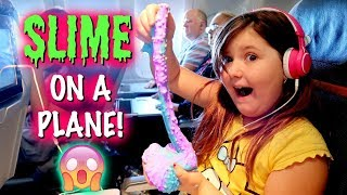 Making Slime & Slime Smoothie on A PLANE!