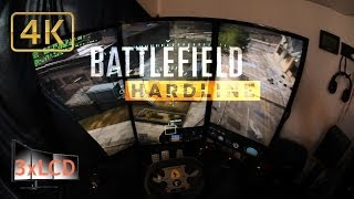 Battlefield Hardline [Beta] - Huge Triple Monitor setup 4K Ultra Settings gameplay demo