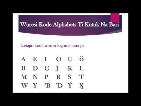 Online Bari Language Course-Bari Alphabets Deep Dive
