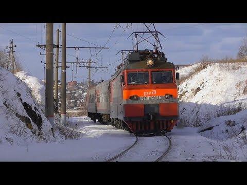 """""""И снова здравствуйте!"""" ВЛ11М-421 с пригородным поездом Алапаевск - Екатеринбург-Пасс."""