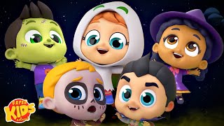 Five Little Monsters | Monsters Song | Halloween Songs For Children | Spooky Rhyme for Kids