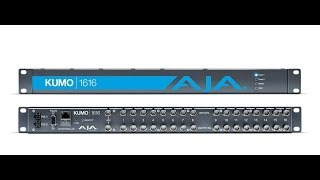 Downgrade firmware on Aja Kumo 16x16 3G SDI Video Matrix