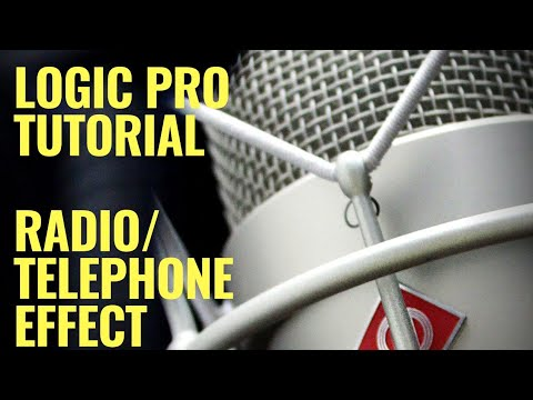 Radio / Telephone Vocal Effect Tutorial - Logic Pro X