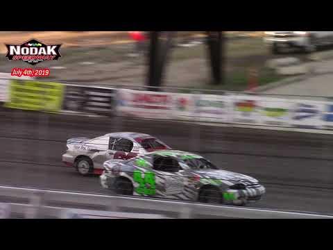 Nodak Speedway IMCA Sport Compact A-Main (7/4/19)