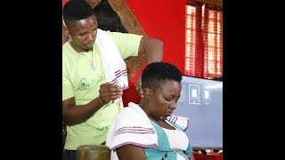 I work at the barber together with my wife - Hussle Yangu