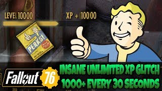 Unlimited XP Glitch Tutorial After Patch! 1000xp Every 30 Seconds in Fallout 76