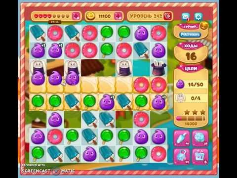 Как пройти 245 уровень в игре долина сладостей