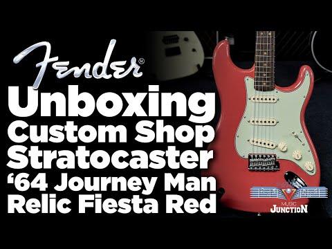 Music Junction: Fender Custom Shop 1964 Journeyman Stratocaster Faded Aged Fiesta Red