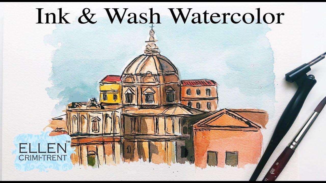 Ink & Wash Watercolor Tutorial