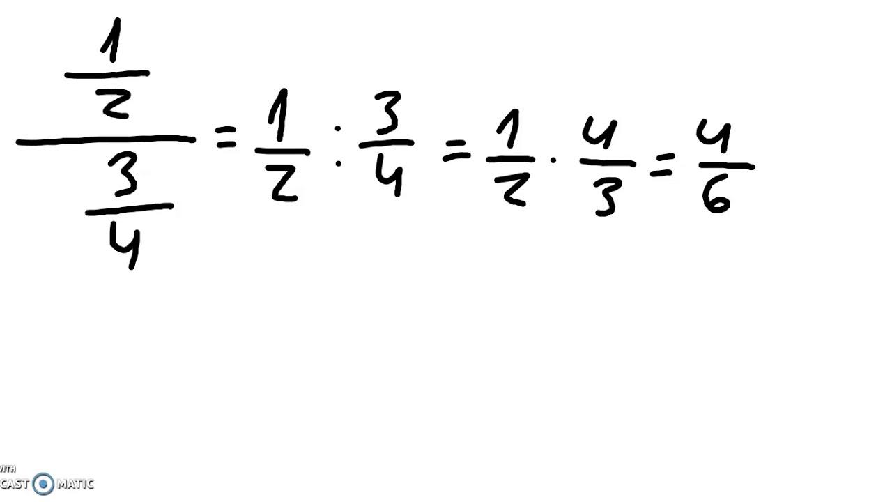Brøkregning - multiplikasjon og divisjon