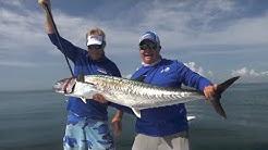 50lb Smoker Kingfish Fishing Off Cape Canaveral Florida - 4K