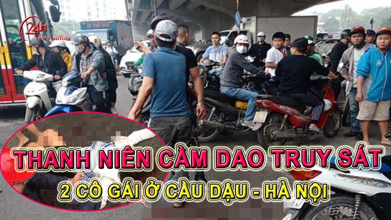 Hà Nội | Nam thanh niên truy sát 2 cô gái ở cầu Dậu, xã Thanh Liệt, Quận Hoàng Mai.
