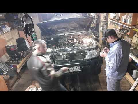 #Nissan #Patrol #Y61 Меняем масло... Скрытая камера в гараже.