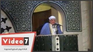 بالفيديو ..عمر هاشم يدعم على جمعة ضد الإرهاب ويخطب الجمعة بمسجد فاضل بـ6 أكتوبر