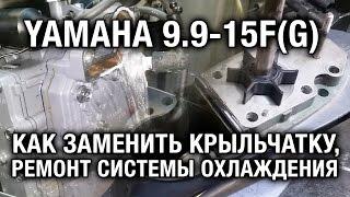 ⚙️  Замена крыльчатки на лодочном моторе YAMAHA 9.9-15F(G).Слабая контролька.Ремонт охлаждения.