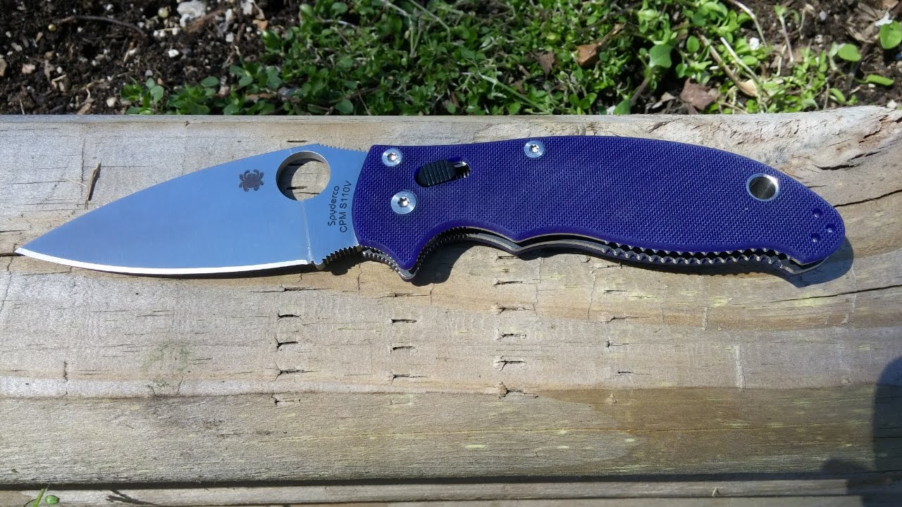 Spyderco Manix 2 G10 Dark Blue S110V quick look