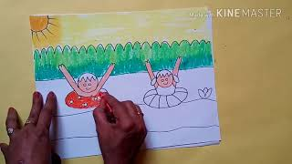 #easy drawing of summer season for beginners
