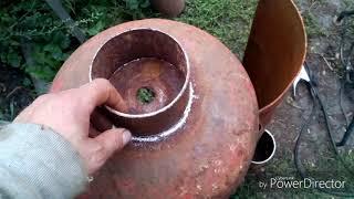 Мангал-коптильня-смокер-барбекю из газового баллона своими руками.