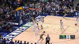 2nd Quarter, One Box Video: Denver Nuggets vs. Milwaukee Bucks