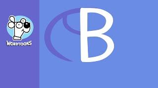 Draw a B into a  basketball  ( Wordtoon Lettertoon B )