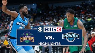 BIG3 Ballout | 3 Headed Monsters vs. Power | Highlights