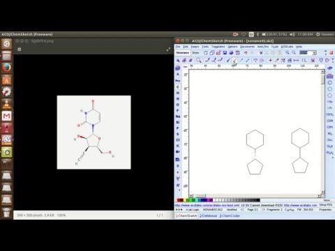 designing chemical structure using  chemsketch (ACD LABS) software in UBUNTU & Windows OS