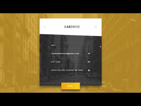 Modern CAB Drive Form Using HTML 5 & CSS 3 - Coming Soon
