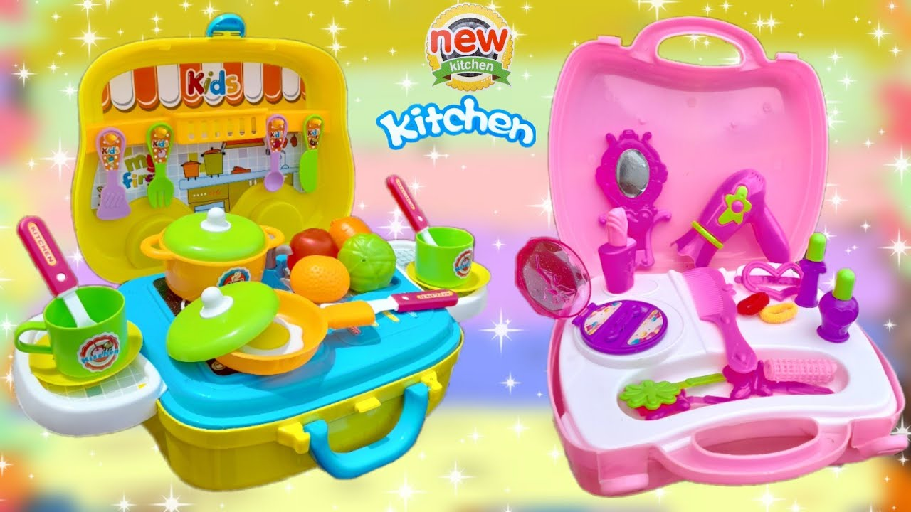 🌟NEW MODERN SUITCASE🍜KITCHEN V/S BARBIE👛COSMETIC SUITCASE | REVIEW AND UNBOXING | INDIAN TOY STORE