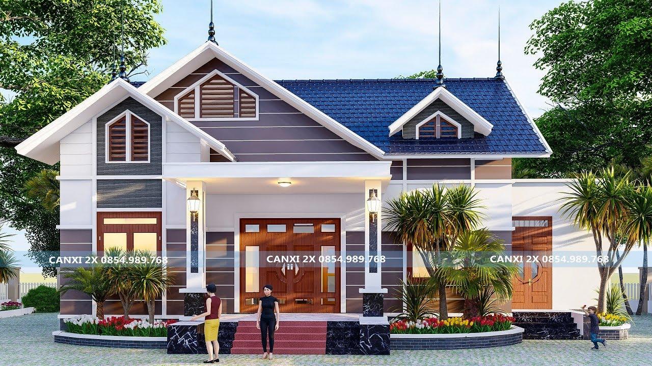 Biệt thự nhà vườn mái thái  cực đẹp giá rẻ đang hot nhất xu hướng làm nhà 2020