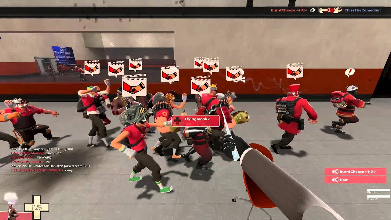 TF2 Conga Line! This is what happens when a new Update is out
