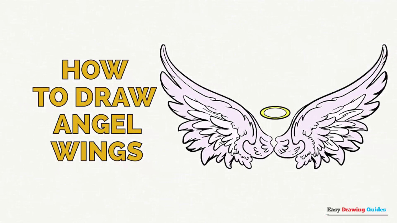 How To Draw Angel Wings In A Few Easy Steps Drawing Tutorial For Kids And Beginners Youtube