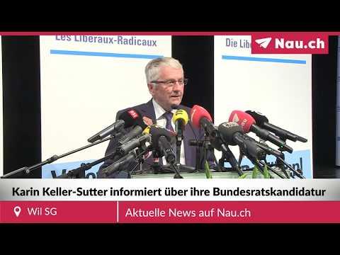 Karin Keller-Sutter begründet ihre Bundesratskandidatur
