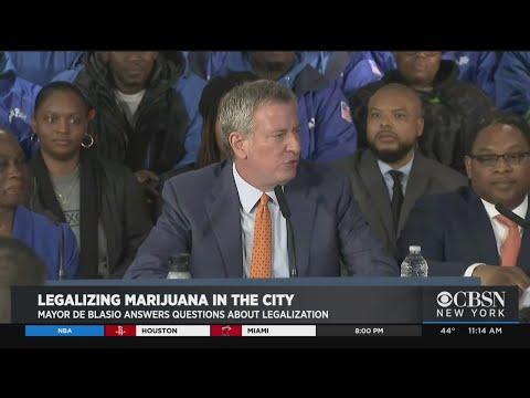 De Blasio Calls For Legalization Of Marijuana