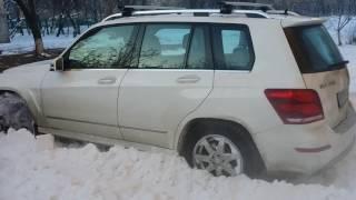 Mercedes GLK 250 тест в снегу.
