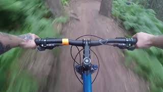 Chicksands bike park single track on Merida 100 harstail