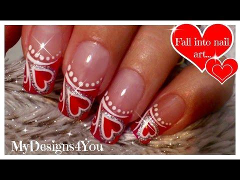 Valentine´s Day Nails | Red Heart Nail Art ♥ Дизайн Ногтей на День Валентина
