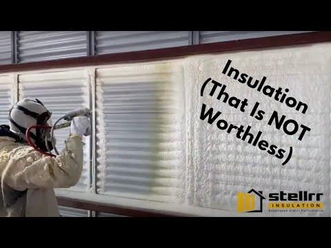 Stellrr Metal Building Closed Cell Spray Foam Insulation