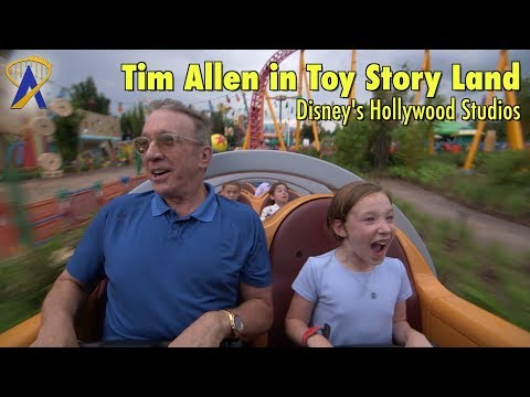 Tim Allen explores Toy Story Land at Disney's Hollywood Studios