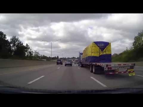 Driving through Cincinnati and Northern Kentucky on Interstate 71